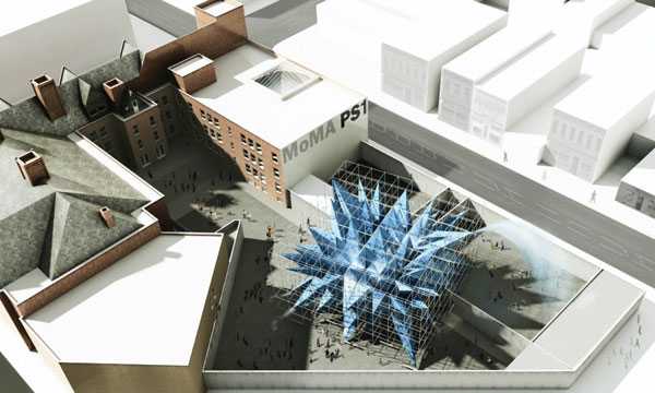 Rendering of HWKN's Wendy, winning design of Young Architect's Program 2012. Image courtesy of HWKN.