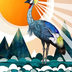 Sandra Dieckmann and her illustrated animals