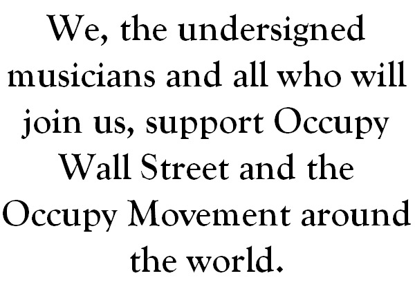 Occupy Musicians, image: occupymusicians.com
