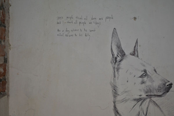 Artwork on wall by Adele van Heerden