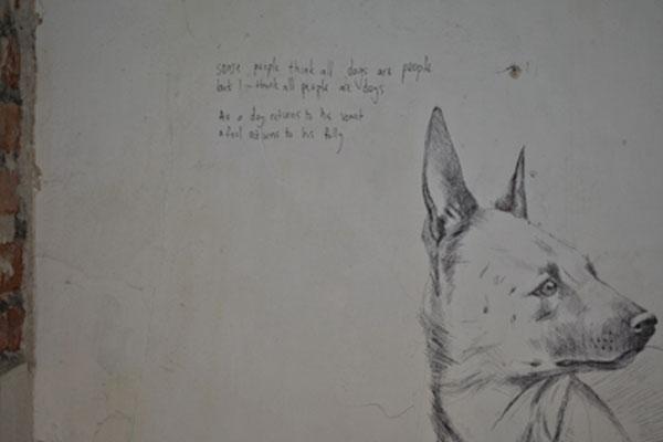 Artwork on wall by Adele van Heerden