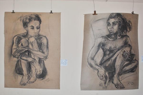 'Lady I' & 'Lady II' by Marion Geiger