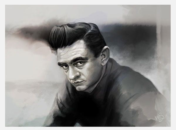 'Johnny Cash' by Caroline Vos