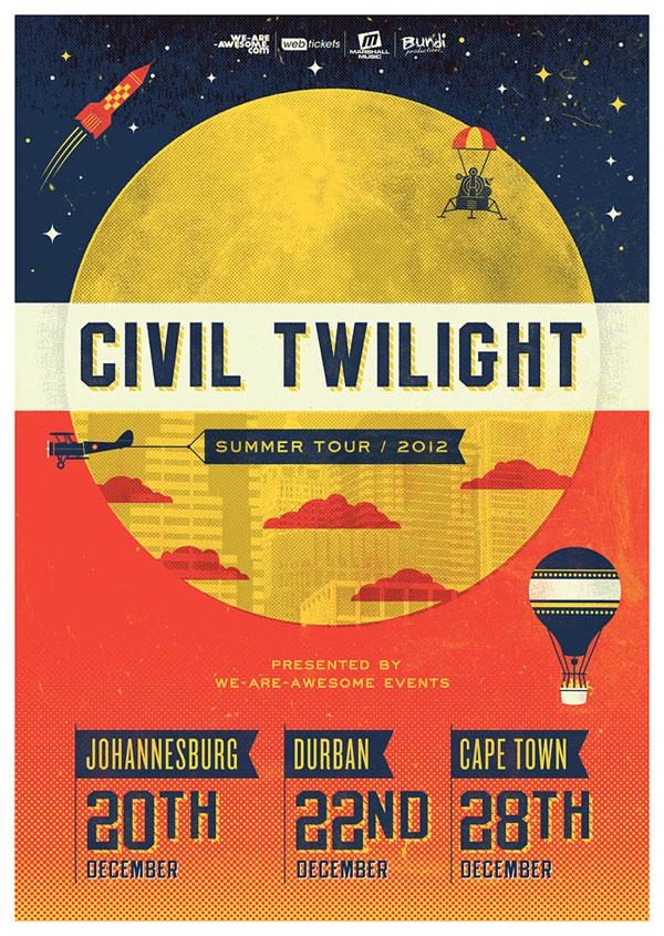 Civil Twilight - official tour poster