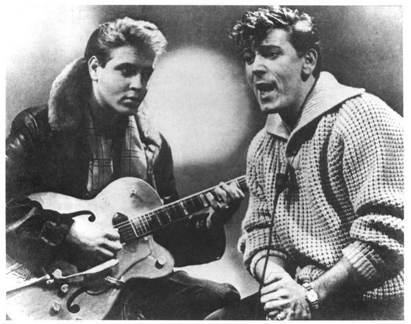 Eddie Cochran and Gene Vincent - Image by fanpop.com