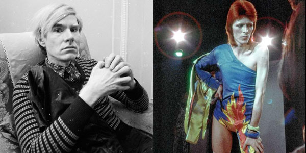 Andy Warhol and David Bowie