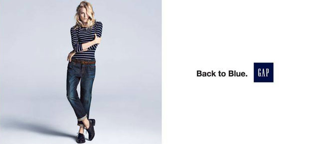 GAP GOES BACK TO BLUE