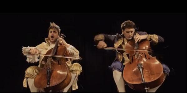 'Thunderstruck' by 2 Cellos - Screenshot