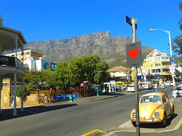 Image: Kloof Street heart from Facebook Secret Love Project
