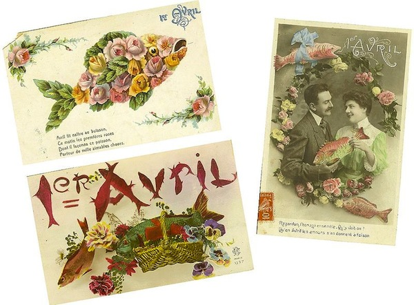 Image: French postcards for Poissons d'avril (wikipedia.com)