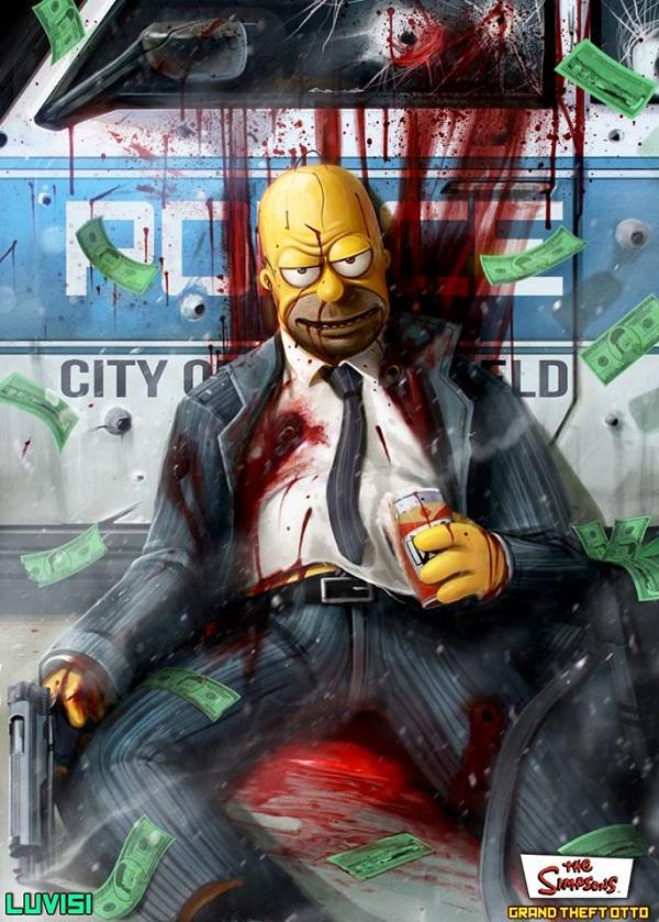 Homer Pulls a Heist by Dan Luvisi