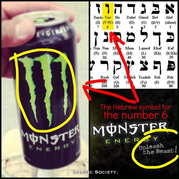 Monster Energy Upside Down Cross